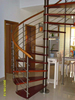 cast iron spiral stair/indoor circular stairs/space saving spiral staircase