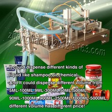 300ML-2500ML double nozzles high filling accuracy paste filling machine, filler machine for cream, chilli sauce