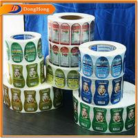 OEM printing matte lamination vinyl shampoo label packaging