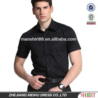 men's high quality breathable cotton/polyester short sleeve twill business casual shirts with one pocket