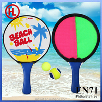 Winmax 2 games beach paddle and pvc ball set, velcro throw and catch bal,sticky balll set