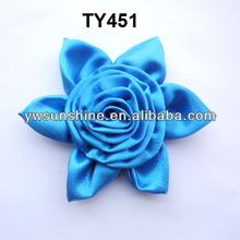 Satin blue rose flower for dress accessories