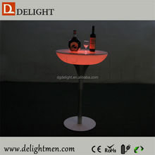 Color change illuminated table/ led tv table design/ battery power led used commercial bar sale