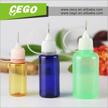 Hot sales! china power tool E cigarette liquild bottle empty needle bottle 5ml 10ml 15ml 30ml,plastic needle tip dropper bottle