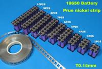 0.15*8 18650 li-ion battery pure nickel shelf with Plastic shelf nickel plate for 18650 24V 36V 48V lithium battery pack