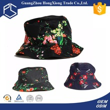 100% cotton Wholesale cheap printing Print Flower Custom Bucket Hat