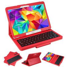 Detachable Bluetooth Wireless Keyboard Portfolio Leather Case for ipad
