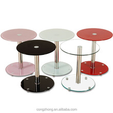 sofa center table/round brushed stainless steel coffee table modern style home use living room table
