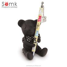 novelty bear shape magnetic desk pen holder gift pen & pen holder
