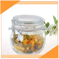 Clear Swing Top Glass Jar For Storage