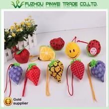 Polyester folding fruit shape shopping bags