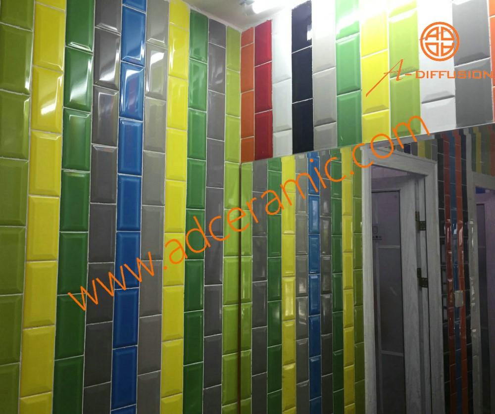 Zilvergrijs heldere keuken tegels 3x6 inch 75x150mm voor muur ...