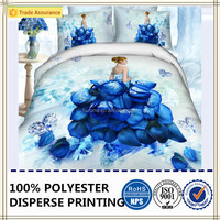 beautiful rose and diamond dress print 100% polyester 3d duvet cover sets