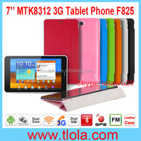 OEM 7 inch Capacitive Touch Screen 3G GSM SIM Slot Tablet PC with Leather Case