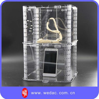 Innovative patented unique transparent acrylic flexible clear display box