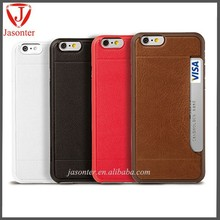 Ultra-thin with card slot wallet phone credit card case for iphone 6 leather cover/custom phone cases for iphone 6