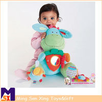 Multifunctional blue donkey plush toy baby comfort doll toys shock mirror soft baby gifts