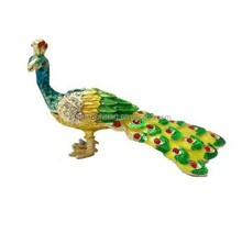 Golden metal peacock decoration
