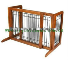 Deluxe Freestanding Pet Gate with Door / Wooden pet gate / dog fence