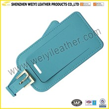 Custom PU Leather Luggage Tag Bulk Airplane PU Leather Luggage Tag