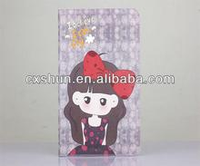 Made in china factory leather case sweet cartoon girl series for ipad mini