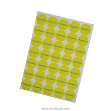Custom printed good self adhesive high quality custom fragrance sticker---sunshine smile