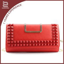 Red Pu Leather shoulder bag pictures of purses and handbags for women