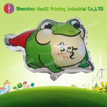 The production of advertising and promotional shaped aluminum foil helium balloon