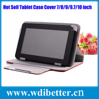 Universal 7 Inch 8 inch 10 inch PU Leather Case Cover Stand for Allwinner A13 Q86 for Samsung tab 2 3 P5200 P3200 Tablet PC