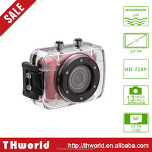 factory sale action camera with 2.0 inch touch panel 20 m waterproof action camera