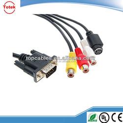Standard Sub-D VGA input converter to S-Video 3RCA vga rca cable