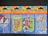 hanging car air freshener with different fragrance and design