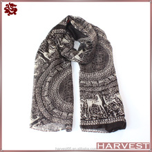 2014 newest print sika deer vintage scarf for women
