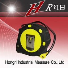 Factory supply abs plastic measuring tape co-molded rubber tape measure
