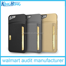 2015 hot sale PU Leather Wallet Case Customized gold Cell Phone Case For Samsung Galaxy S6 Edge with card pocket