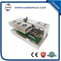 high speed continuous induction plastic cap sealing machine