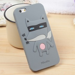 2015 Custom Cute Animal Shape Silicone Cheap Mobile Phone Case For Iphone 5s