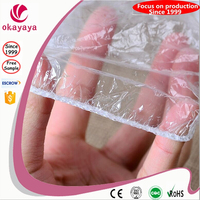 Disposable waterproof PE plastic ear cover ear cap for SPA / shower / hair salon