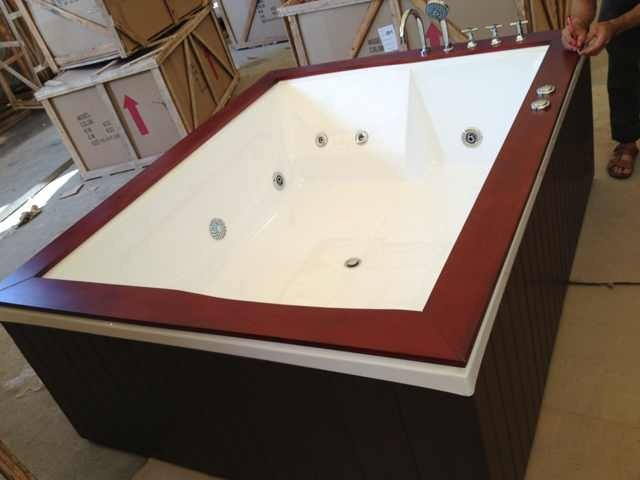 adb nuovo  in legno dimensioni vasca jacuzzi sesso vasca, Disegni interni