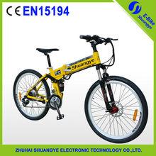 "new design 1:1 PAS 24 speed 26"" folding mini electric dirt bike"