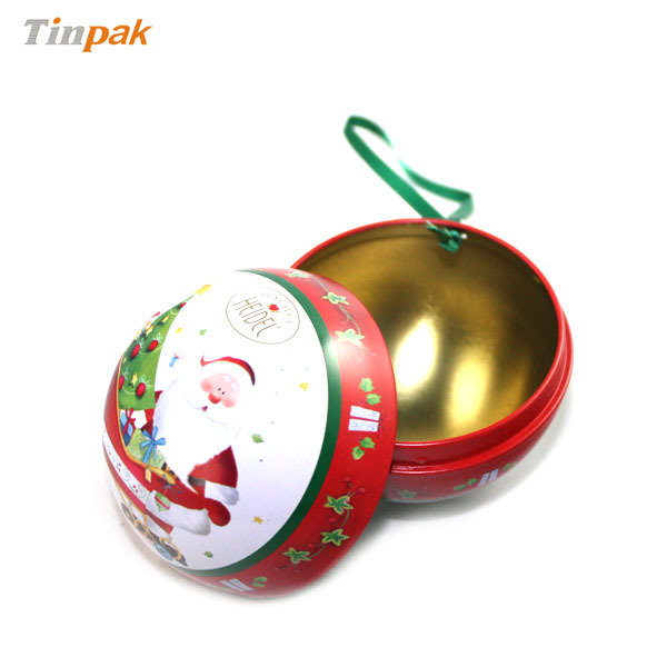 Bola de natal-em forma de lata de metal presente