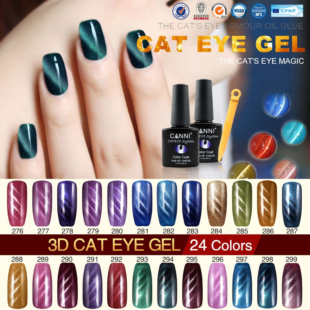 51023x Canni Nail Art Design Wholesale Cat Eye Gel Polish 73ml 24