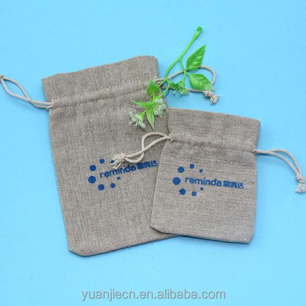 Christmas burlap drawstring bags made in China
