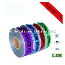 Underground detectable warning tape marking barricade tape
