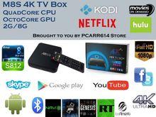 New android tv box amlogic s812 quad core M8S tv box xbmc fully load with kodi h265 4k ultra hd tv box 2GB m8s