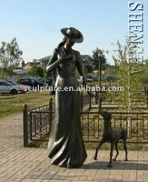 2015 High quality large bronze statue for sale for decoration
