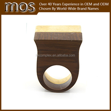 2015 lastest fashion jewelry resin stone and wood ring