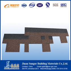 SGB 5 Types Asphalt Roofing Shingle with Various Color