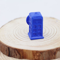 Free ship Doctor Who Tardis Daleks Blue Box Enamel Badge Brooch Pin Dr Time Travel jewelry B-6