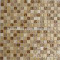 العقيق حجر الحمام بلاط الموزاييك والزجاج البني، gs61